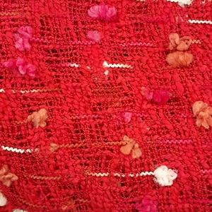 RED RUSTIC SCARF